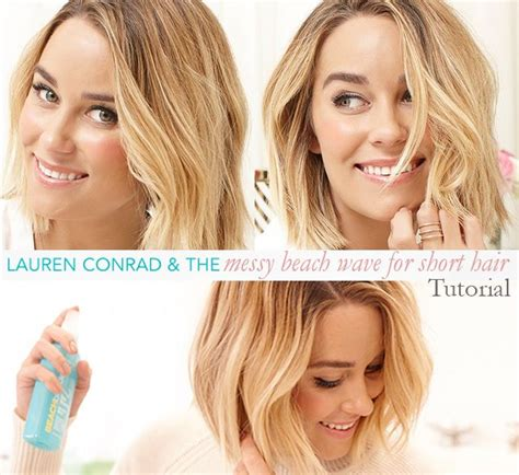 how to get beach waves for short hair with no heat how to get lauren conrad s beach waves for short hair
