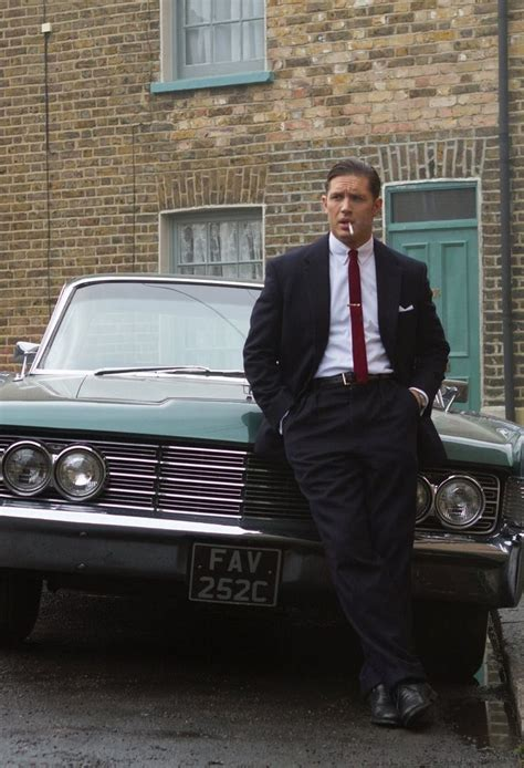 gangster movie with tom hardy legend reggie kray looking dapper as usual
