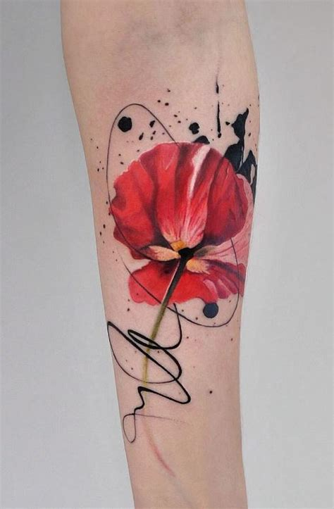 watercolor flower tattoo inkstylemag inkstylemag