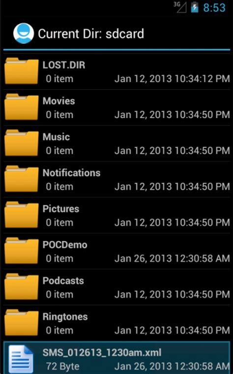 tutorial android file explorer create a simple file explorer in android develop mobile