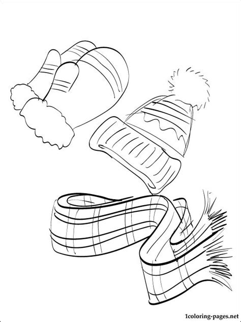 winter clothing coloring page coloring pages