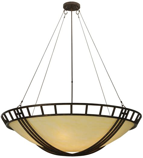Inverted Bowl Pendant Lighting Meyda 119164 Flowing Cross Inverted Bowl Pendant