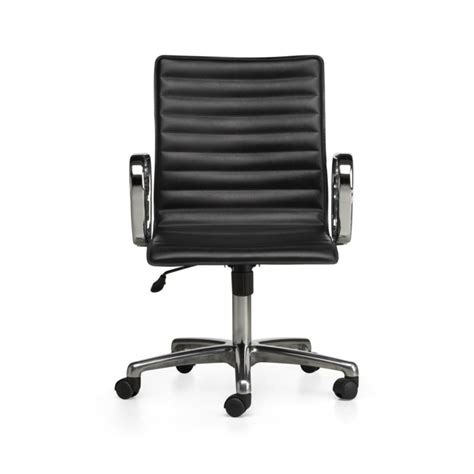 crate and barrel office furniture ripple black leather office chair in office chairs crate