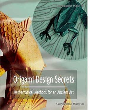 Origami Design Secrets - origami design secrets by robert j lang