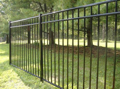 fence ideas for backyard aluminum metal fence for backyard with black color home