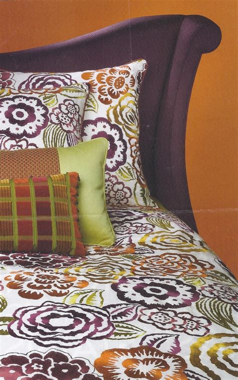 purple and orange bedroom purple green orange bedroom not too sure about the pillow in the front but i love the