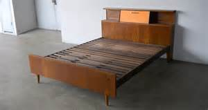 Retro Bed Frames Wood Furnish Me Vintage Furniture
