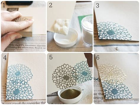 How To Make Embossed Paper - embossing tutorial somewhat simple