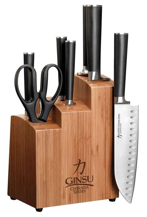 ginsu kitchen knives ginsu gourmet chikara series forged 8 japanese steel knife set cutlery set