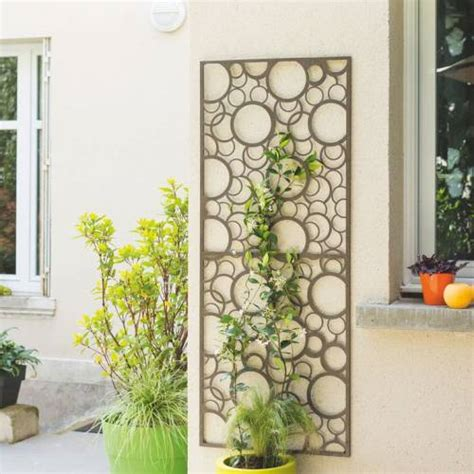 Decorative Wood Trellis Decorative Trellis In Metal Circle 0 6 X 1 5 M Buy