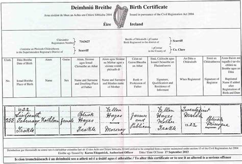 Birth Records In Ireland Birth Marriage And Records