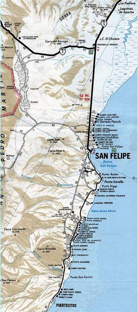 maps mexicali baja california maps of san felipe mexicali border crossing and