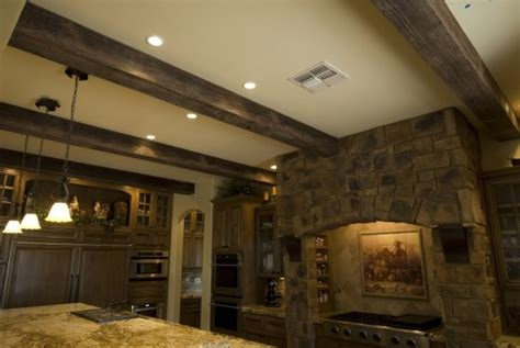 Ceiling Mounted Room Dividers by Faux Wood Beams Traditional Kitchen Phoenix By