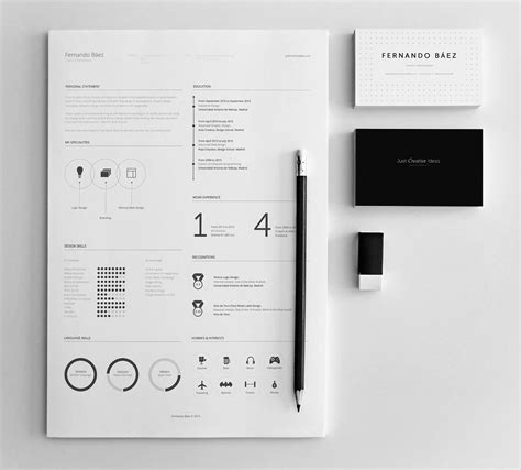 10 Gorgeous Minimalist Resume Templates The American Genius Resume Design Templates