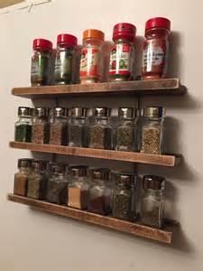 Metal Spice Shelf Modern Wood And Metal Hanging Spice Rack By Grandadsfurniture
