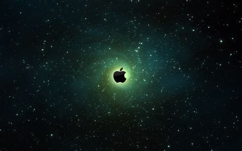 Apple Universe Wallpaper Hd | space and apple logo hd background hd wallpaper
