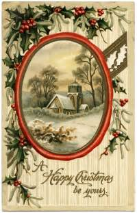 Vintage Christmas Postcard Old Fashioned Christmas » Ideas Home Design