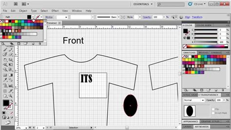 how to design a shirt using adobe illustrator 2 5 designing a t shirt adobe illustrator cs5 youtube