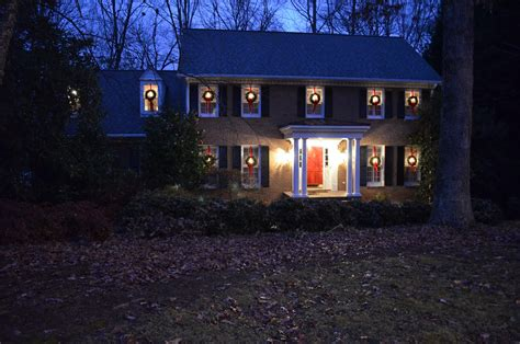 hanging christmas lights in windows easy how to hang wreaths on outside exterior windows