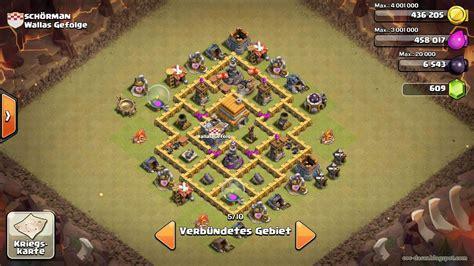 layout coc th 6 yang kuat base th 6 terkuat untuk war clan terbaru coc dasar