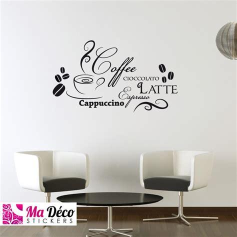 sticker cappuccino latte pas cher stickers cuisine