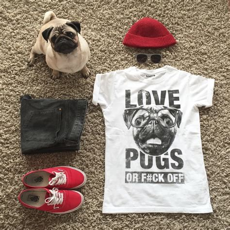 pug lover pugs or f ck t shirt by meet the pugs styletails