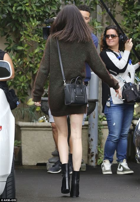 Fossil Kendall Cosmetic kendall jenner displays legs in sweater dress for