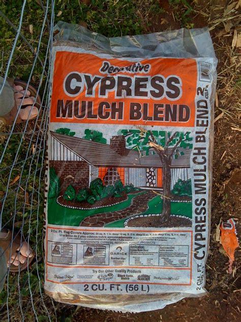 will home depot cypress mulch hurt my veggies