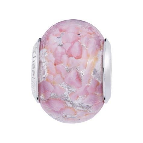 pink murano glass l light pink murano glass charm