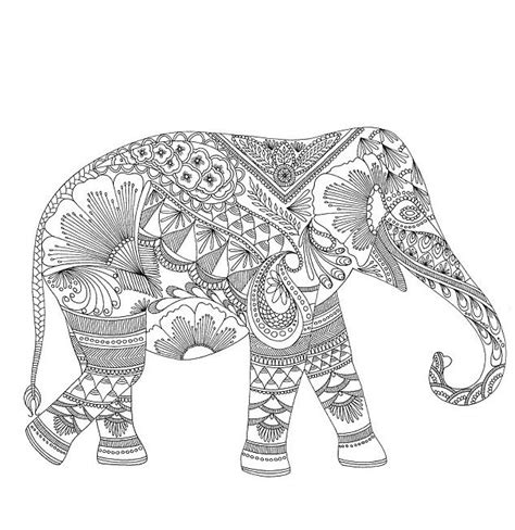 coloring pages tribal elephant download elephant coloring pages for adults http