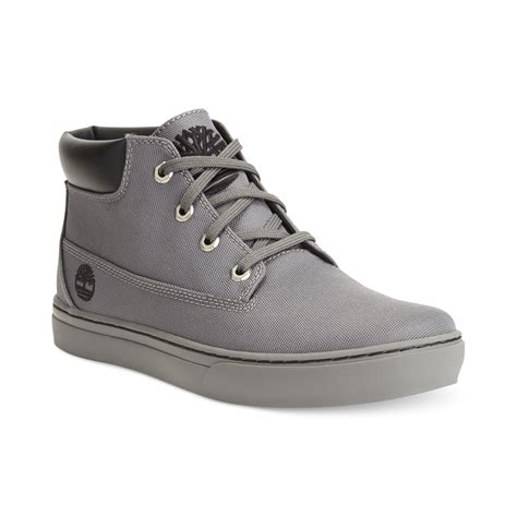 gray timberland boots mens timberland 20 new market chukka boots in gray for