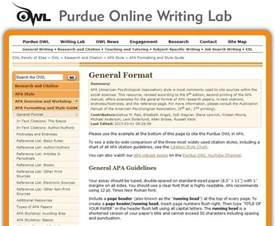 apa formatting and style guide from owl at perdue