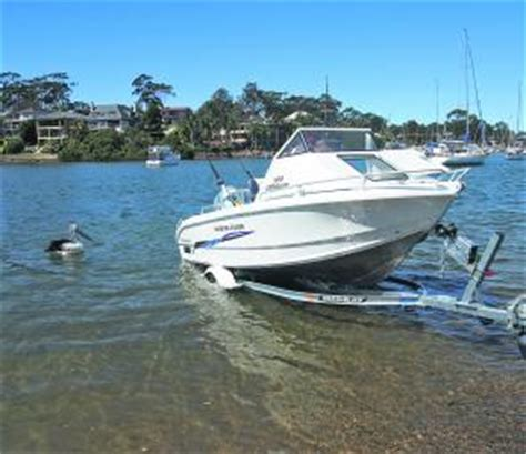 driving boat onto trailer fishing monthly magazines boat test morningstar 4 6m