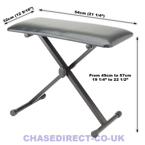 chase bench chase keyboard piano bench stool drum throne black seat