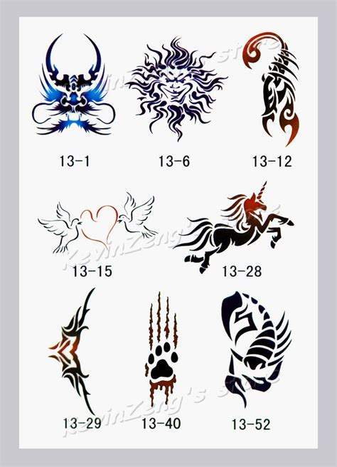 online temporary tattoo maker free shipping temporary airbrush tattoo stencils glitter
