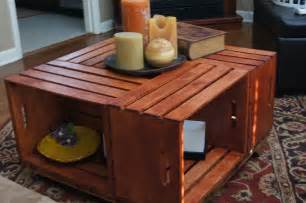 diy wooden crate coffee table woodworking projects