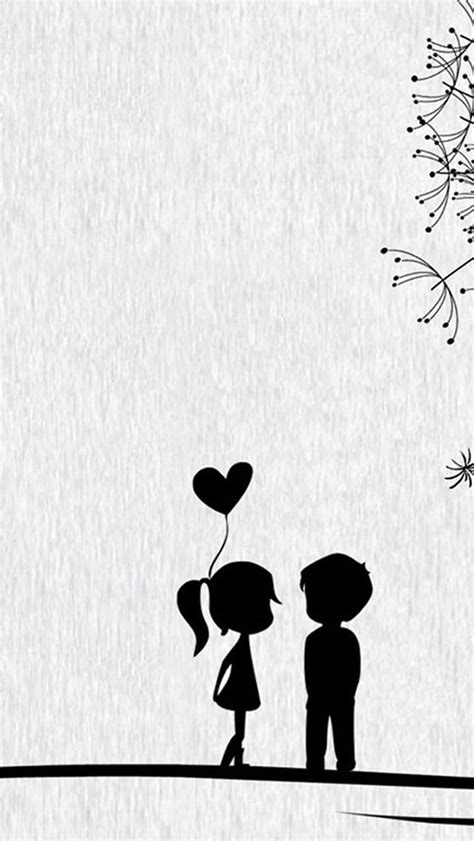 love cute cartoon  couple iphone  wallpaper