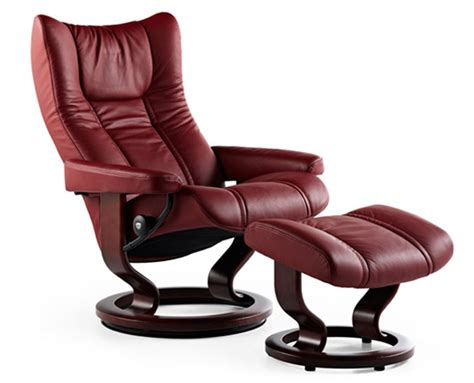 classic recliner chairs stressless wing classic wood base recliner chair and