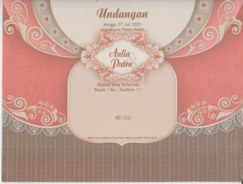 Kartu Undangan Pernikahan Hc 111 undangan pernikahan dan murah hc 111 tabloid laptop
