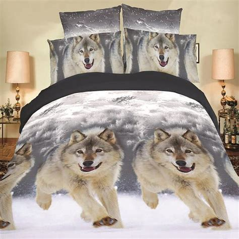 Wolves Bedding Set Happy Wolf Bedding Set Thefashionbooth