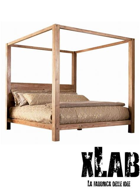 letto a baldacchino in legno letto matrimoniale a baldacchino in legno lassie xlab