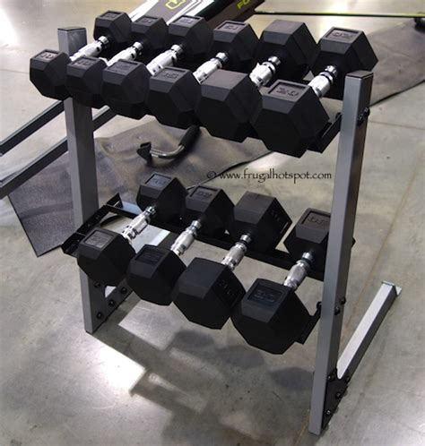Dumbbell Sets With Rack by Costco Cap 200 Lb Dumbbell Set With Rack 189 99 Frugal