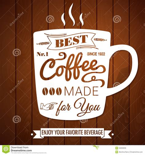 coffee poster wallpaper vintage coffee poster on a dark wooden background royalty