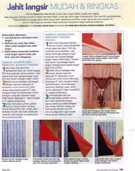 Teknik Jahit Smok kreativ works jahit langsir mudah dan ringkas pdf
