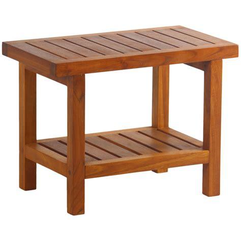 aqua teak shower bench aqua teak spa teak shower bench with shelf reviews wayfair