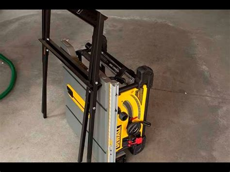 compact portable table saw dewalt dwe7490x 10 inch table saws with scissor stand