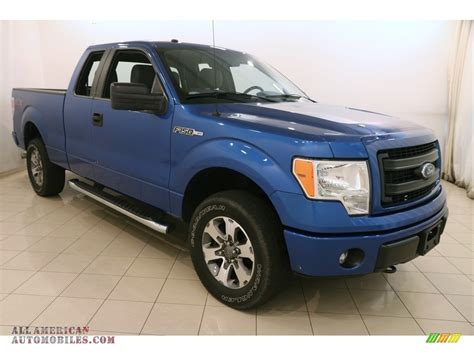 2014 Ford F150 Stx by 2014 Ford F150 Stx Supercab 4x4 In Blue F71091