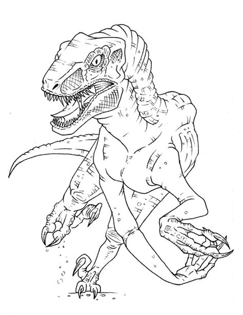 coloring page velociraptor velociraptor coloring pages az coloring pages