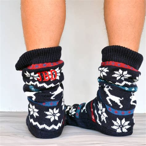 mens slippers socks s slipper sock boots by solesmith notonthehighstreet