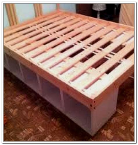 diy bed frame with storage storage under bed frame home design ideas